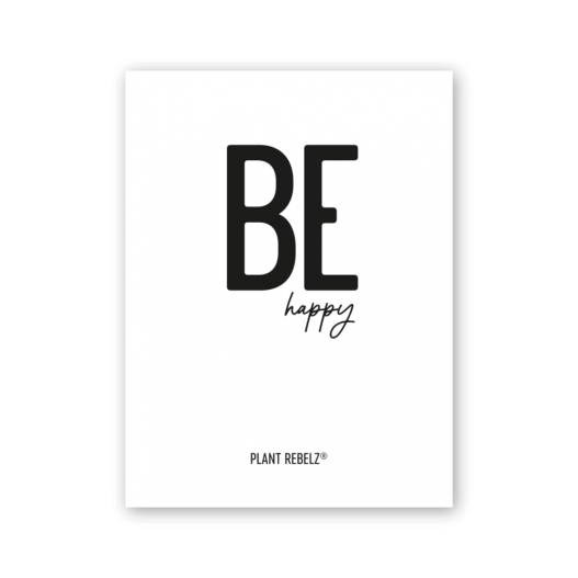 Poster 'Be Happy'